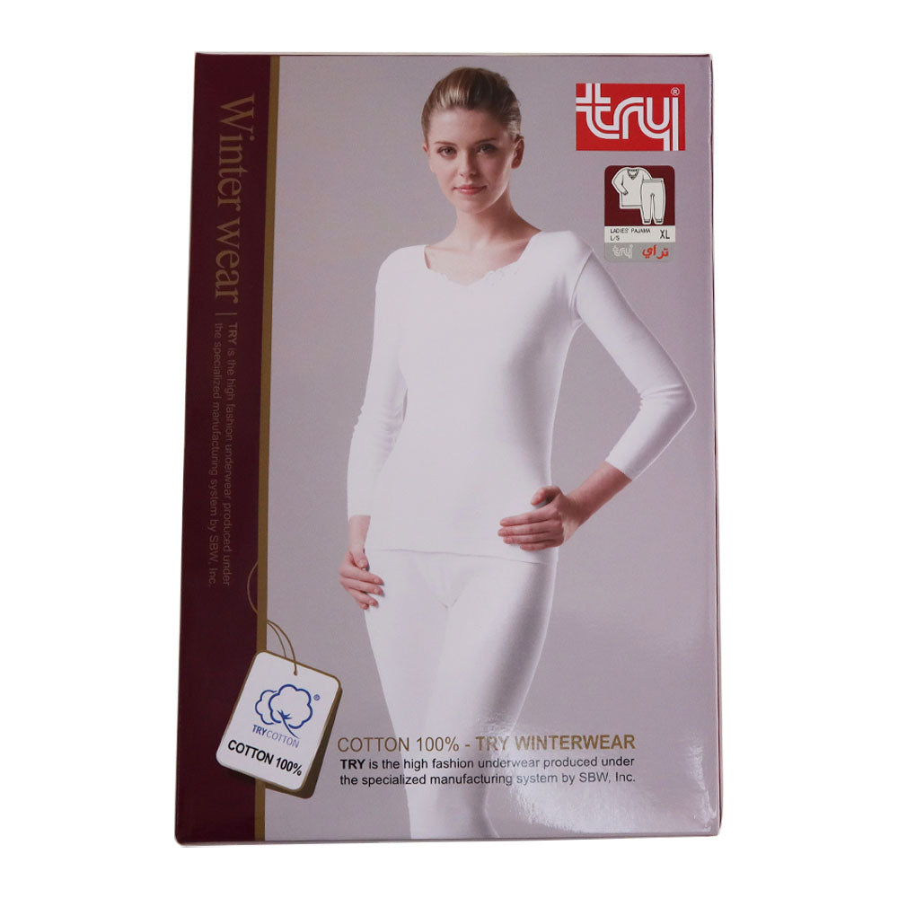 Try Women Thermal Set, White