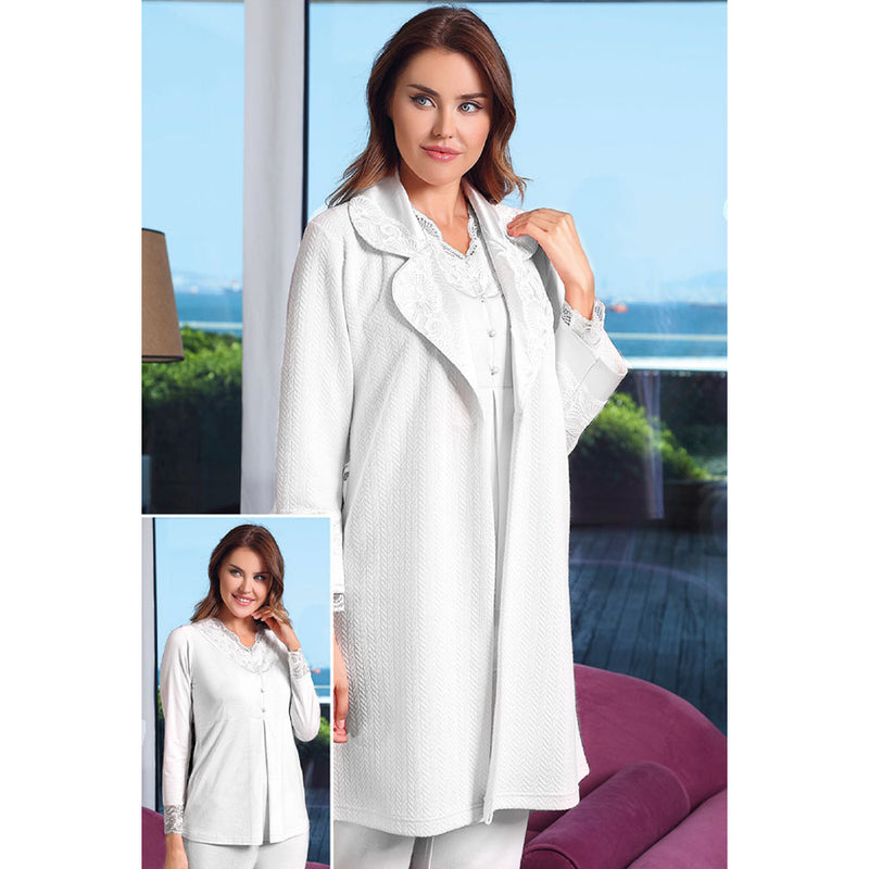 Tuba Easy Breastfeeding Maternity Pajama And Robe Set