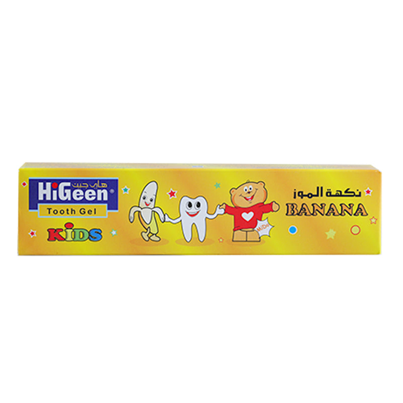 HiGeen Tooth gel Banana Flavour, 60gm