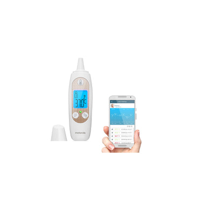 Motorola - Smart Ear Thermometer with Temperature Tracking