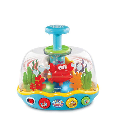 VTech Seaside 3 Songs 10 Melodies Interactive Spinning Top, 6+ Months