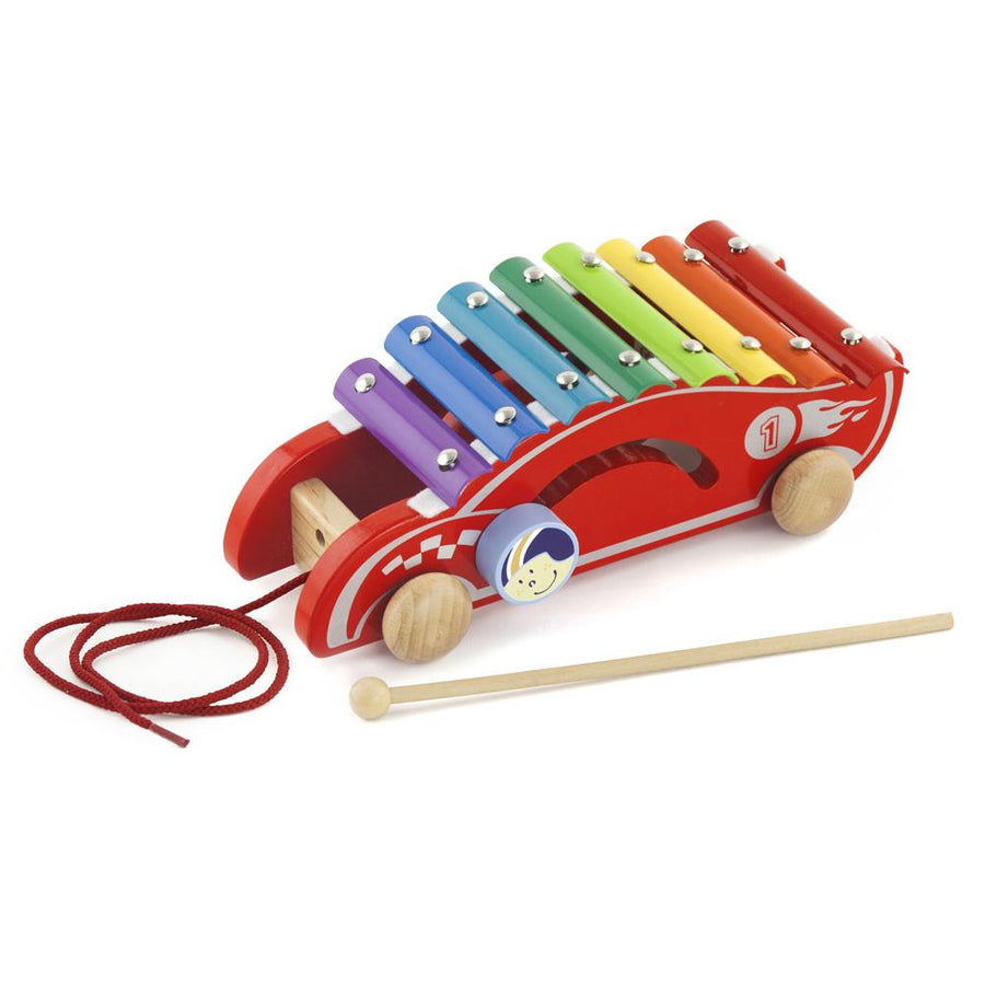 Viga Pull Along Xylophone Musical Toy Racing Car
