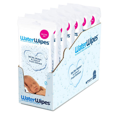 WaterWipes Sensitive Baby Wipes Travel Pack, 28 wipes