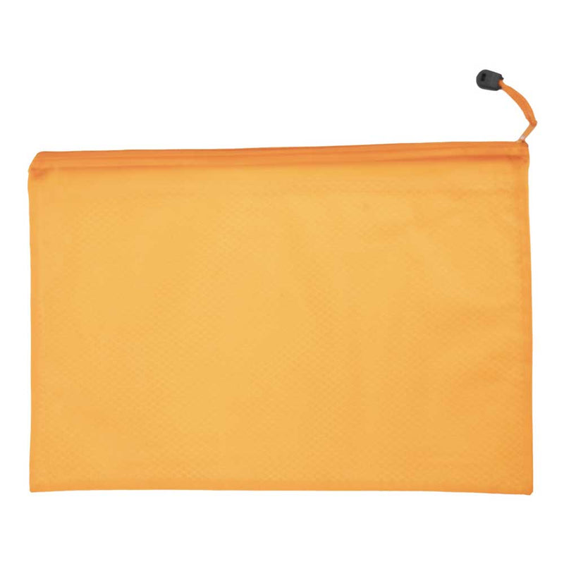 Waterproof Folder Zipper Bag, Orange