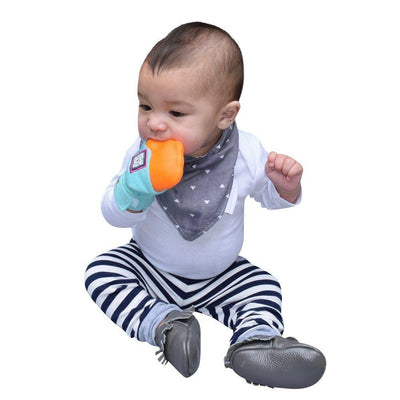 Yummy Mitt Teething Mitten Blue & Orange