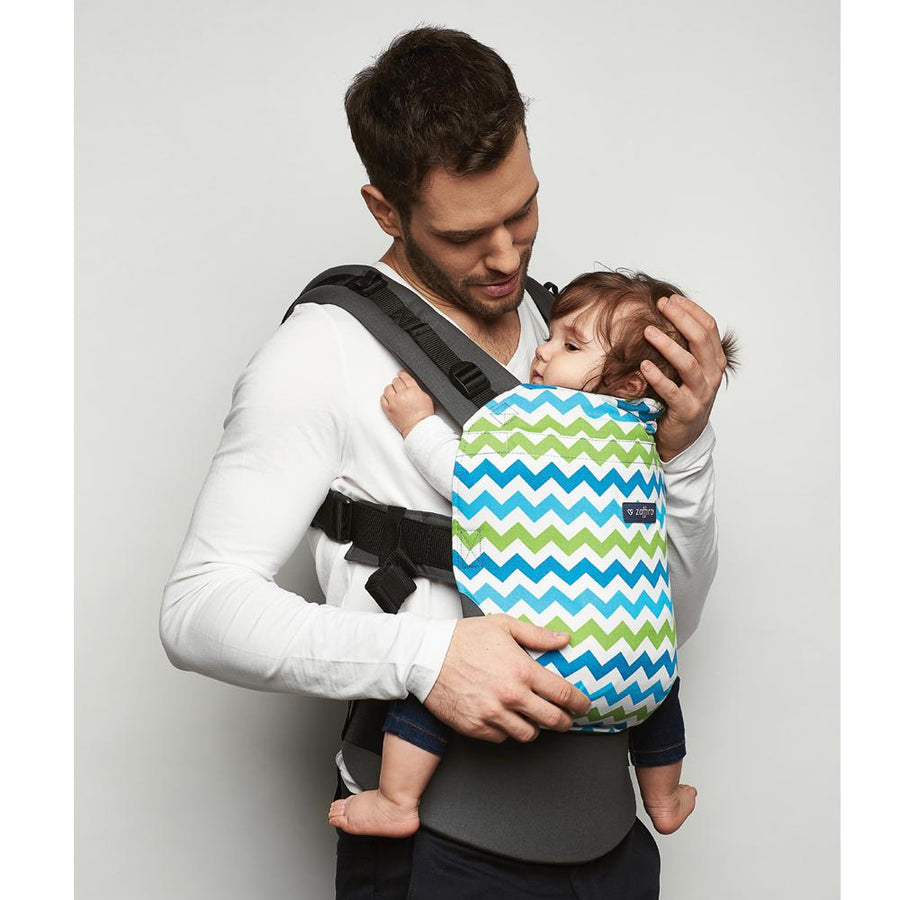 Zaffiro Baby Carrier Care Green Zigzag