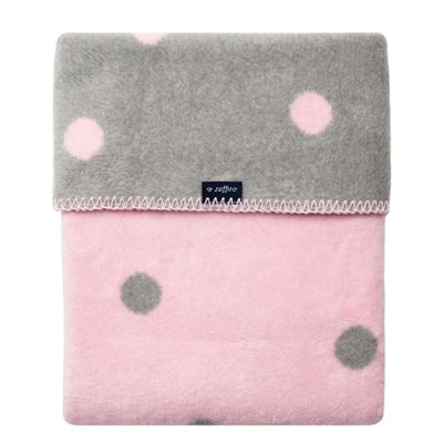 Zaffiro Pink with Dots Cotton Blanket, 100x150cm