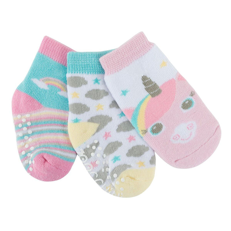 Zoocchini Baby Terry 3 pc Sock set -  Allie the Alicorn