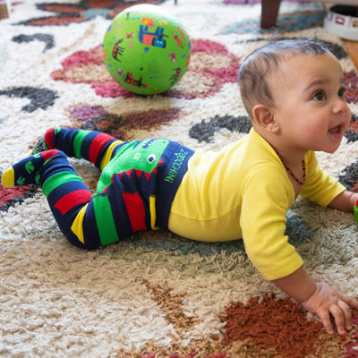 Zoocchini Comfort Crawler Babies Legging and Sock set - Devin the Dinosaur