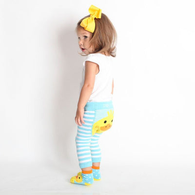 Zoocchini Comfort Crawler Babies Legging and Sock set - Puddles the Duck