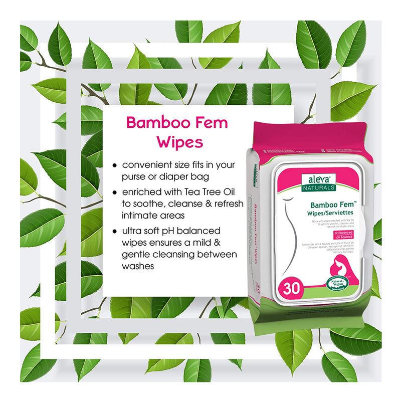 Aleva Naturals Bamboo Fem Maternal Care Wipes