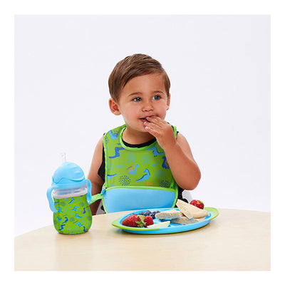 B.Box Travel Bib + Spoon - Dino Time