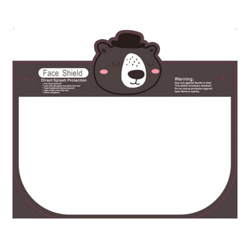 "KIDS Face Sheild Design "" Bear"""
