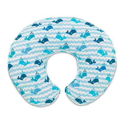 Boppy Slipcovered Pillow - Blue Whales