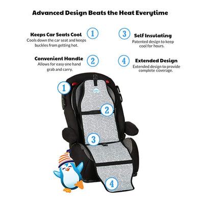 Carats Black Car Seat Cooler