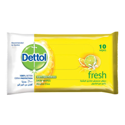 Dettol Wipes Fresh Buy 2 Get 1 Free, 10 Wipes