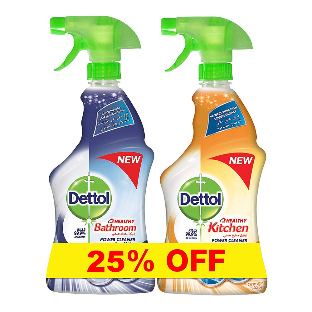Dettol Kitchen Cleaner+Bathroom Cleaner 25% OFF