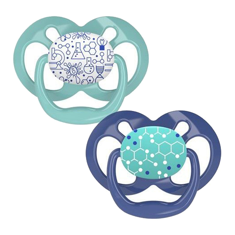 Dr Brown's Advantage Pacifier - Stage 2, Blue Chemistry, 2-Pack