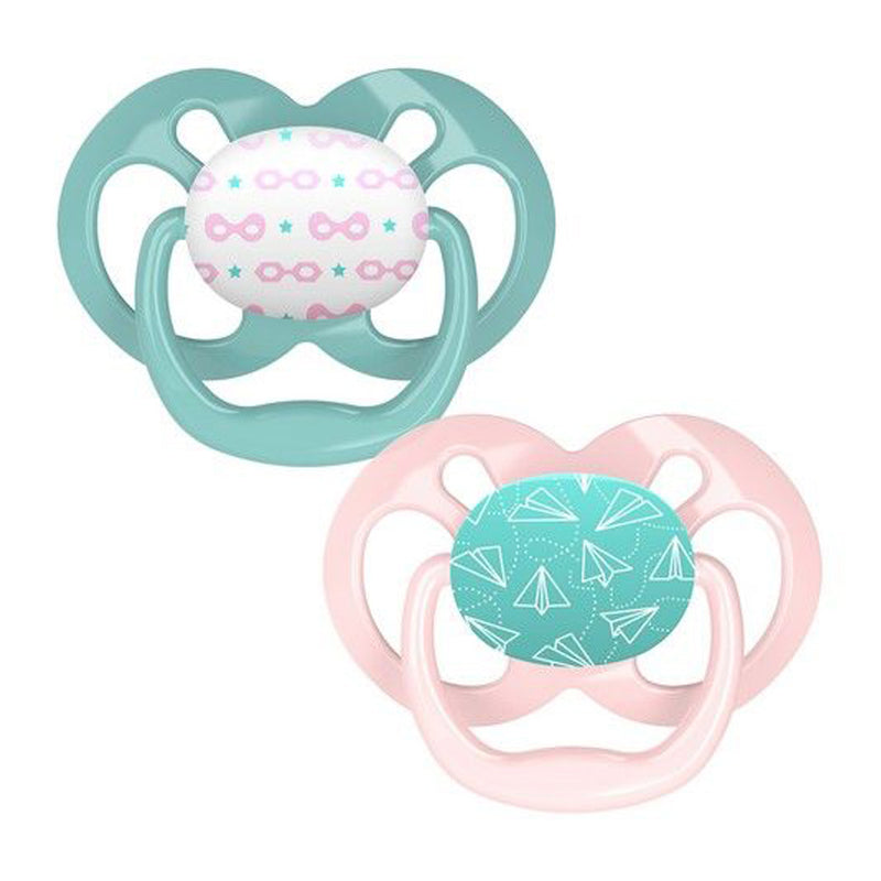Dr Brown's Advantage Pacifier - Stage 2, Pink Airplanes, 2-Pack