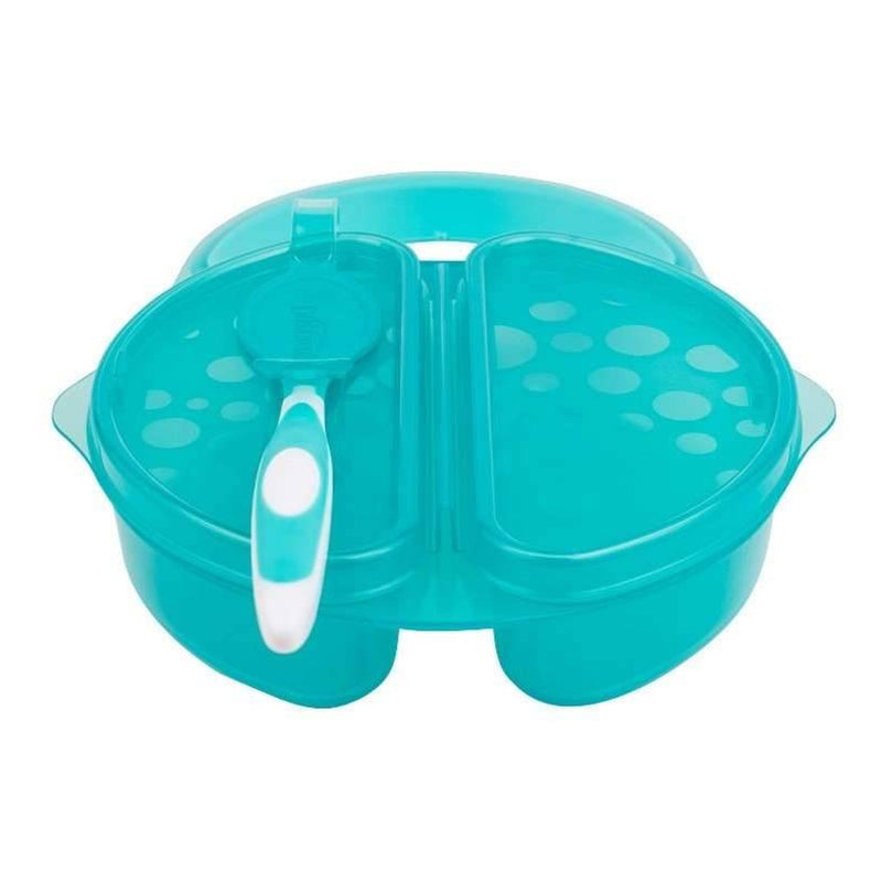 Dr Brown's Travel Fresh™ Bowl & Snap-in Spoon, Teal, 1-Pack