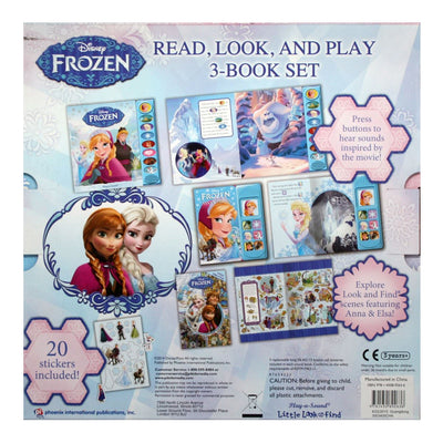 Disney Frozen Read, Look, Play 3-Book Set