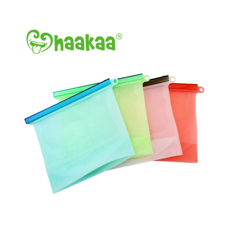 Haakaa Silicone fresh milk storage bags - Blue