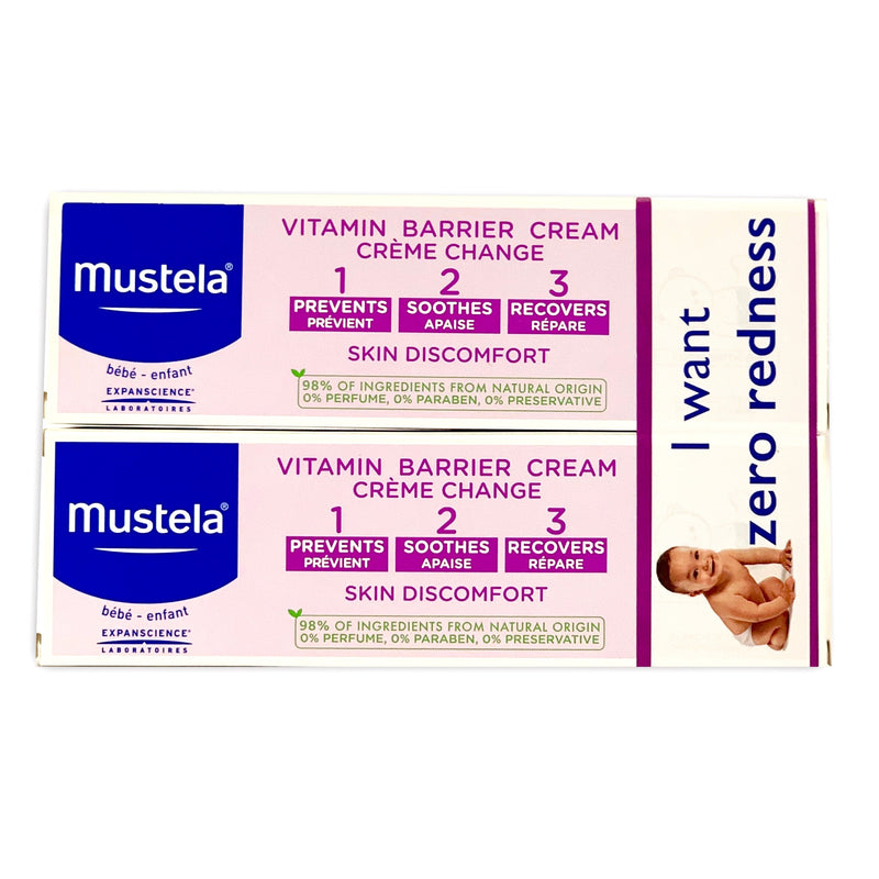 Mustela Vitamin Diaper Rash Cream 1 2 3, Pack of 2