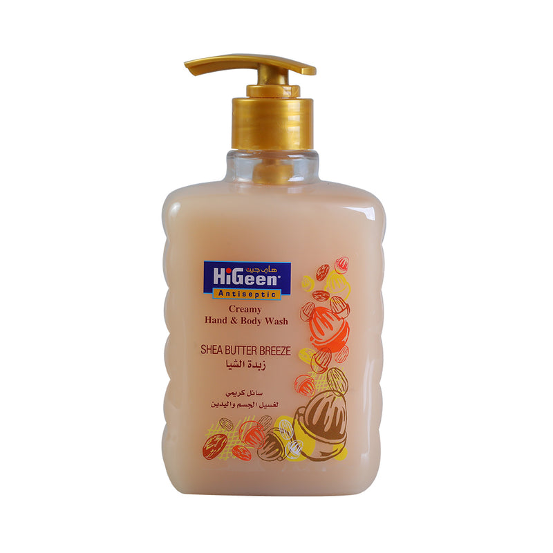 HiGeen Creamy Hand & Body Wash Shea Butter, 500ML