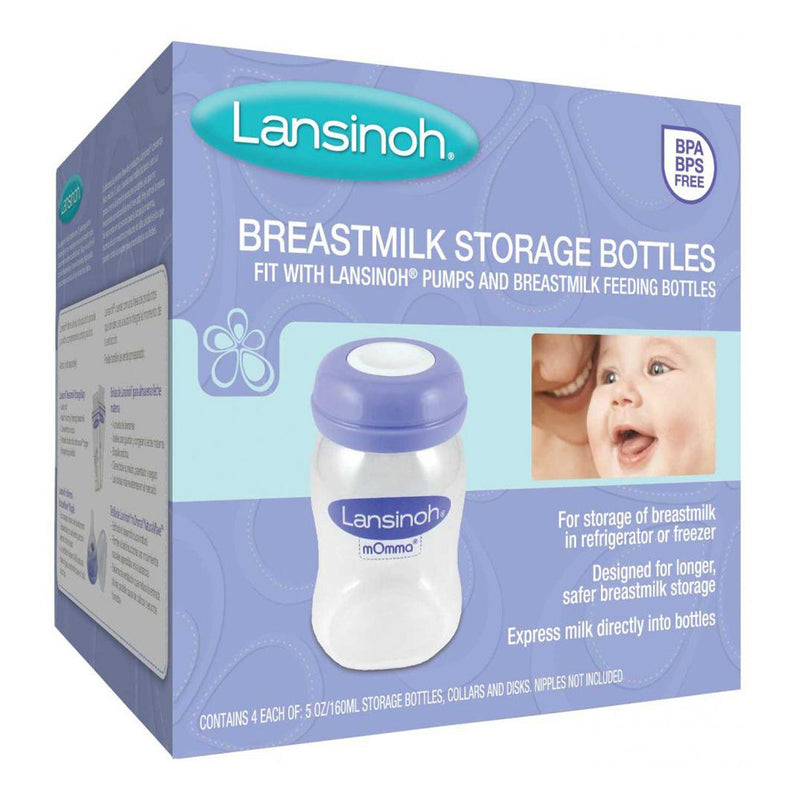 Lansinoh BreastMilk Storage Bottles - 4 pieces