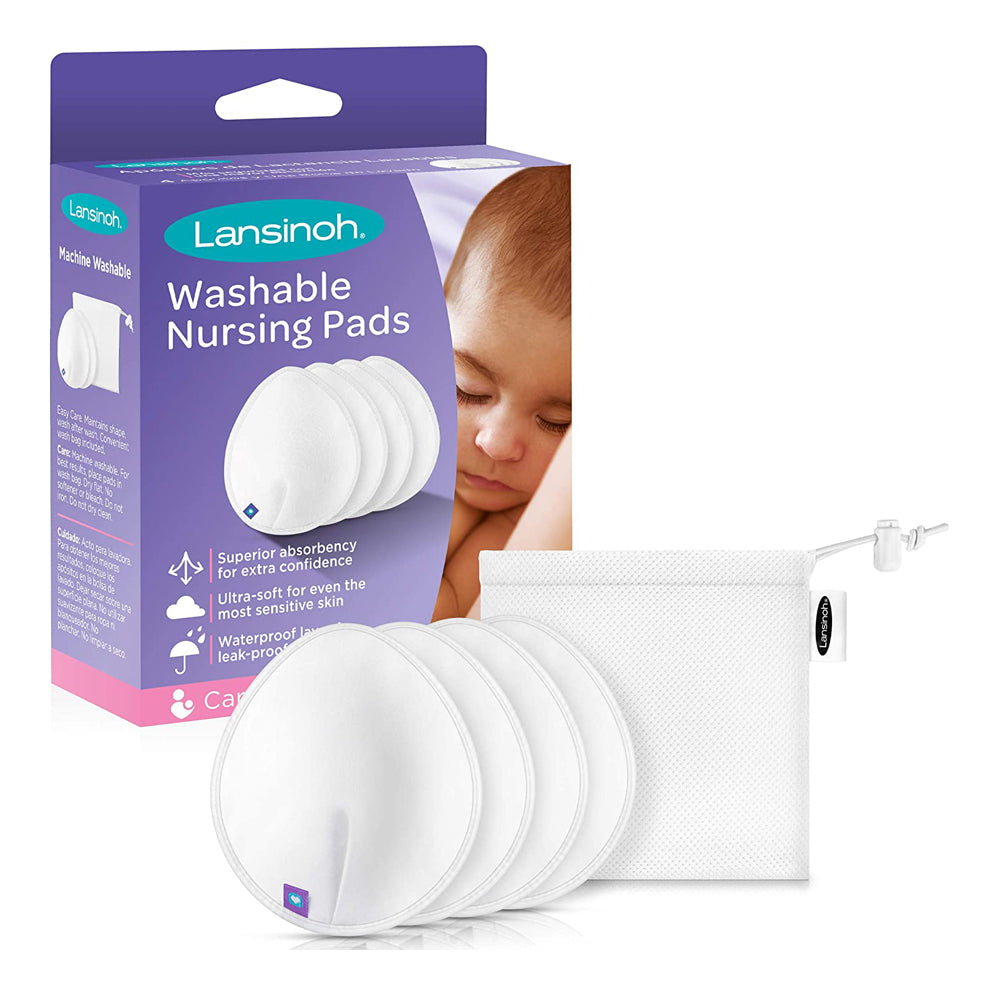 Lansinoh Washable Nursing Pads, 4 pieces
