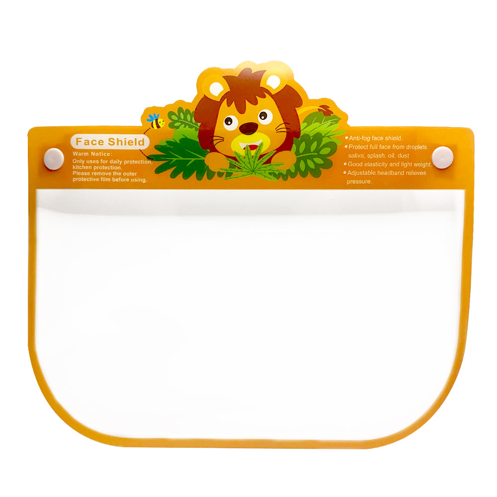 "Kids Face Sheild Design "" Lion"""