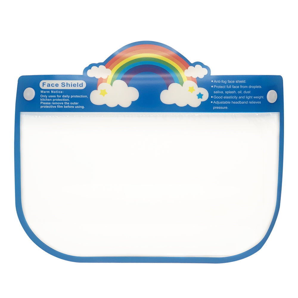 "Kids Face Sheild Design "" Rainbow with cloud"""