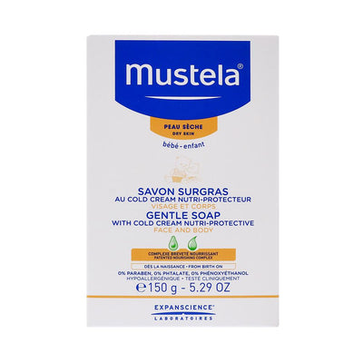 Mustela Face and Body Gentle Cold Cream Soap, 150G
