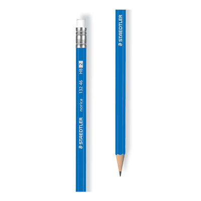 Staedtler  PENCILE WITH RUBBER NORICA, Pack of 12 Pencils
