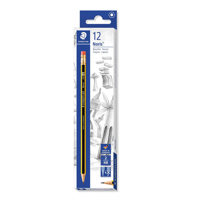 Staedtler PENCIL WITH RUBBER, Pack of 12 pencils