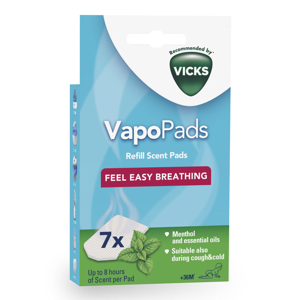 Vicks Vapopads Menthol Scented Pads with Essential Oils (VH7)
