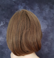 "Synthetic Straight Medium Brown Bob Style Wig 10"" - wonda wigs"
