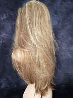 "Medium Blonde With Highlights Synthetic Silky Straight 3/4 Half Wig 22"" - wonda wigs"