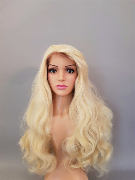 "Cosplay 1950's Blonde Bombshell Synthetic Curly Wig 22"" - wonda wigs"