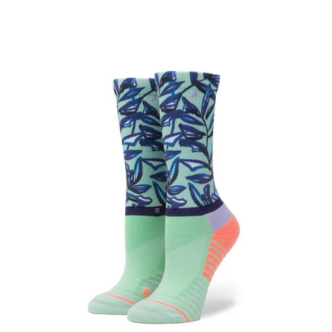 STANCE WOMENS ATHLETIC FUSION MINT TREE CREW SOCKS - Athlete Specific