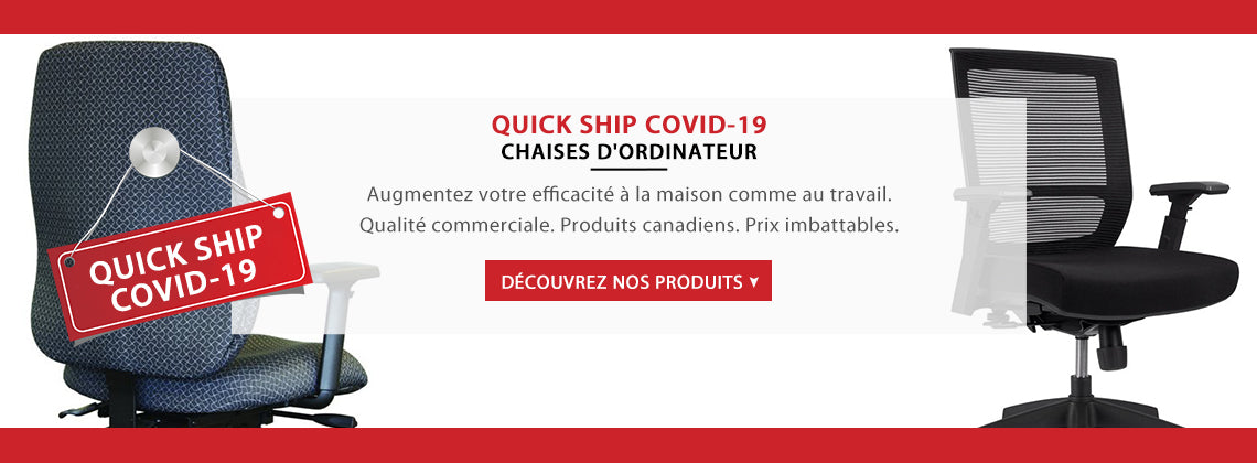 Quick Ship COVID-19 - Chaises d'ordinateur