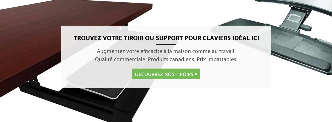 Tiroirs / Supports pour claviers