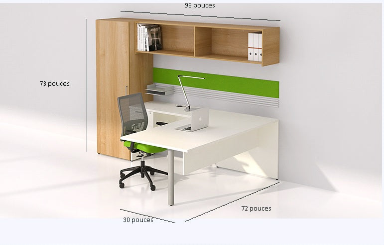 bureau en l retour gauche avec tag re murale s rie 300 solutions m3. Black Bedroom Furniture Sets. Home Design Ideas