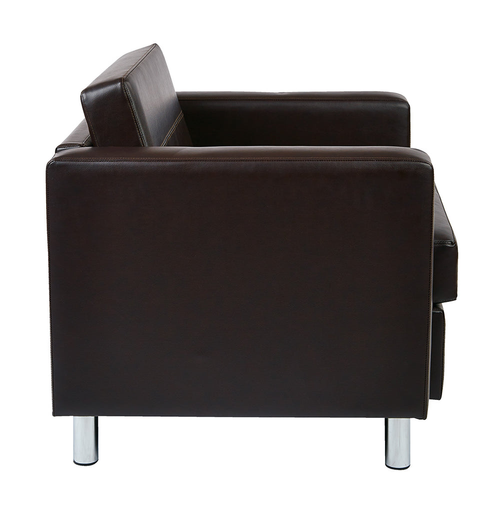 fauteuil club pacific en cuir noir solutions m3. Black Bedroom Furniture Sets. Home Design Ideas