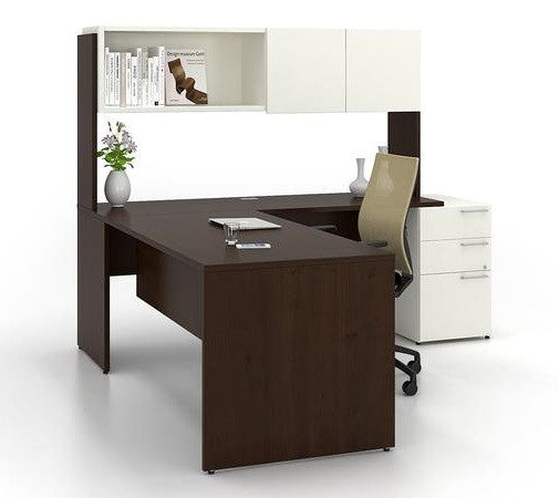 Lacasse mobilier de bureau en L - Collection CA CA1ES-PLAN04