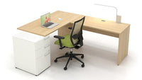 Lacasse mobilier de bureau en L - Collection CA CA1ES-PLAN06