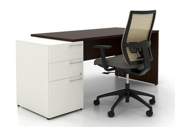 Lacasse mobilier de bureau simple caisson - Collection CA CA1ES-PLAN08