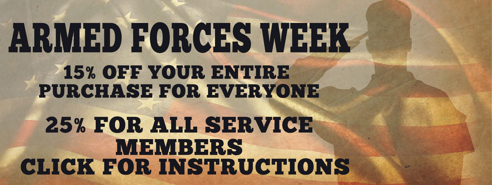 armed forces week sale