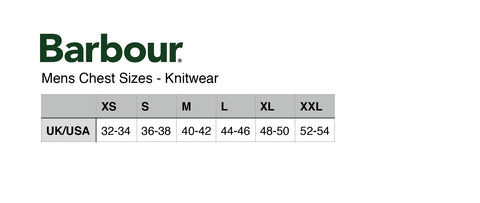 mens sizing guide knit