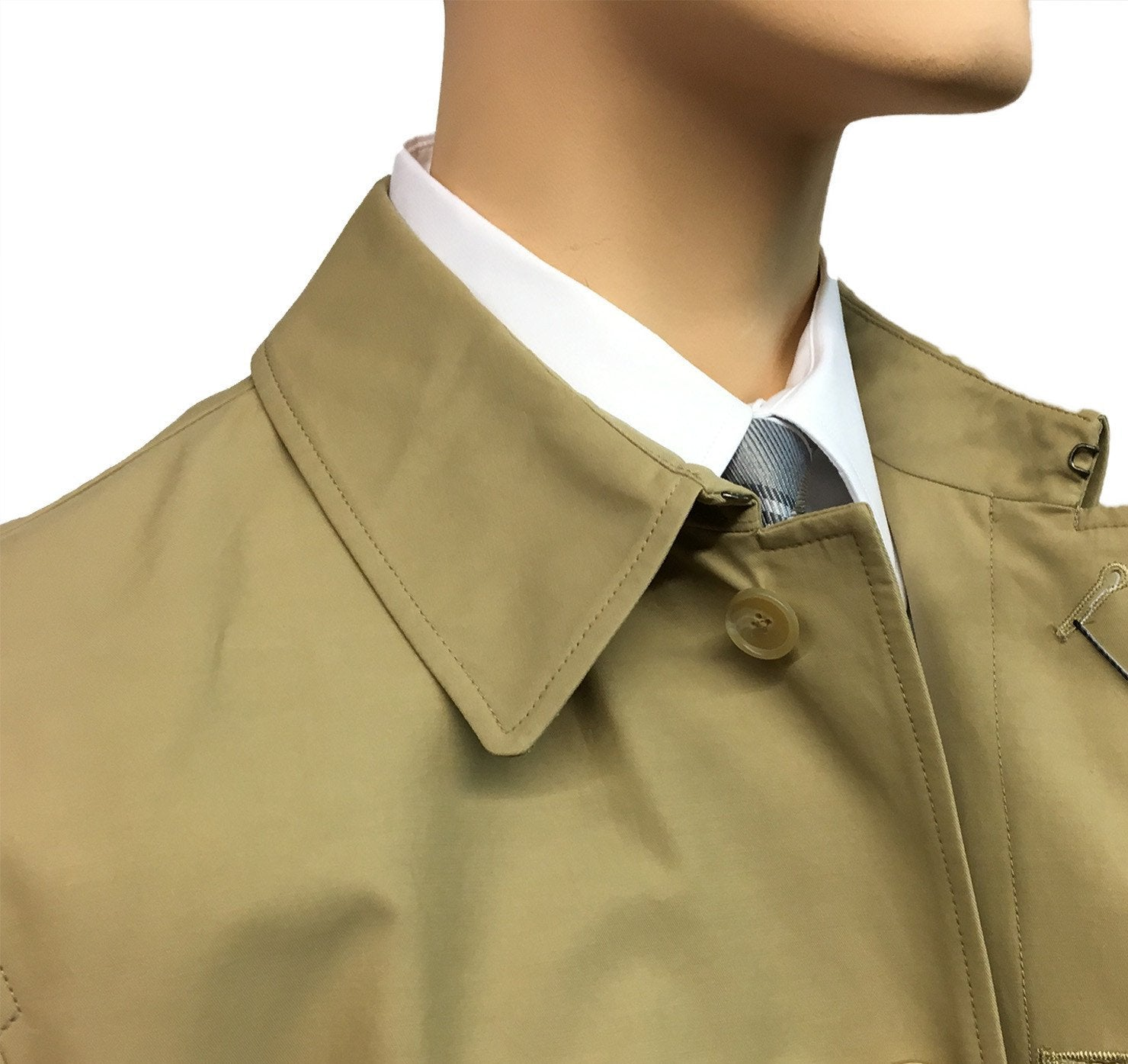 Men S Austin Reed Athames Raincoat British Khaki F L Crooks Com